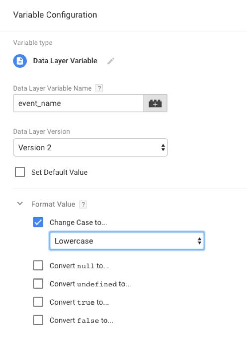 Google Tag Manager Format Value