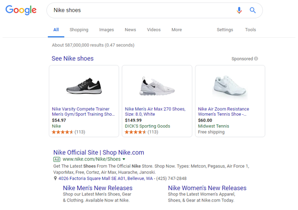 Navigating the Google Merchant Center Nike Shoes Search